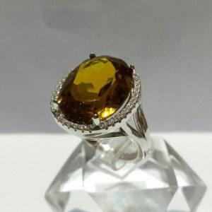 انگشتر الکساندریت 7رنگ بزرگ زیبا