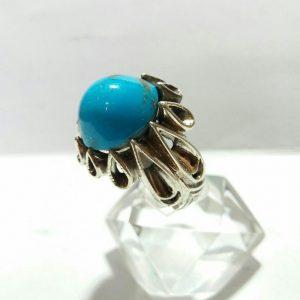 انگشتر فیروزه کرمانی خوش رنگ زیبا