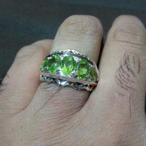 انگشتر حلقه زبرجد خوش رنگ اصلی