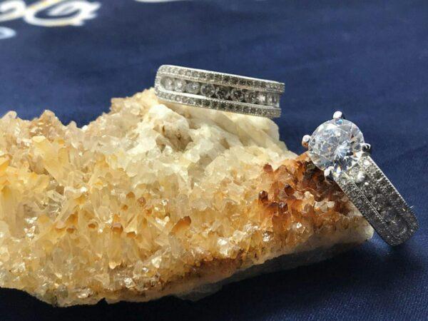 انگشتر حلقه ست جواهری آب رادیوم زیبا