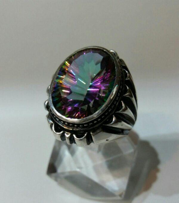انگشتر توپاز ۷رنگ زیبا