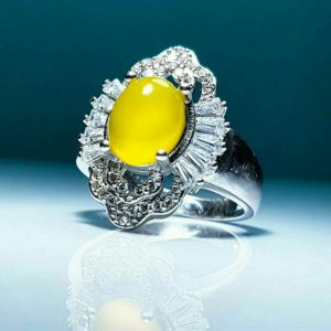 انگشتر جواهری عقیق زرد شرف شمس به وقت