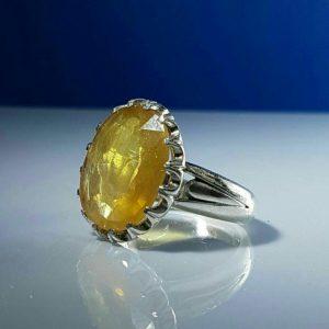 انگشتر یاقوت زرد معدنی