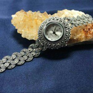ساعت نقره مارکازیت زیبا