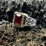انگشتر یاقوت قرمز آفریقایی اصلی