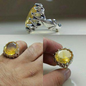 انگشتر سیترین معدنی اصلی