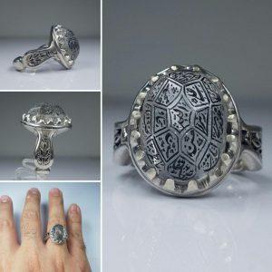 انگشتر در نجف تراش الماسی خطی ۱۴معصوم