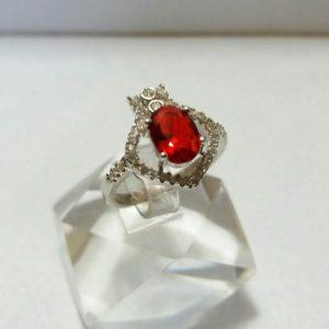 انگشتر زنانه نگین قرمز