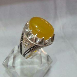 انگشتر عقیق زرد شرف الشمس اصلی