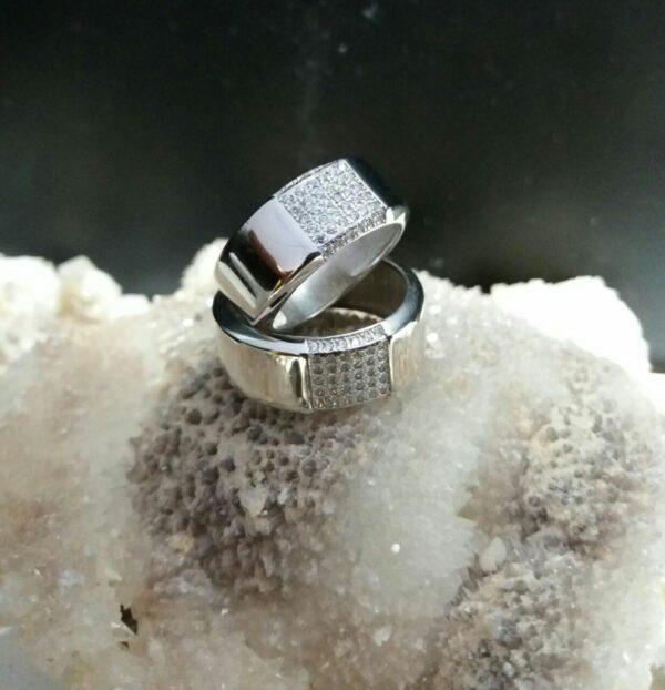 انگشتر حلقه نیم ست جواهری