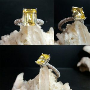 انگشتر جواهری سیترین اصلی