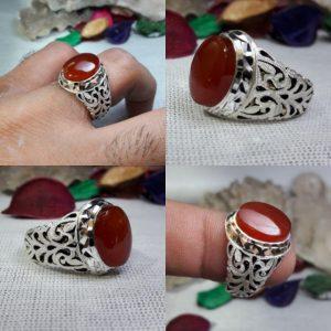 انگشتر عقیق یمن خوش رنگ اصلی