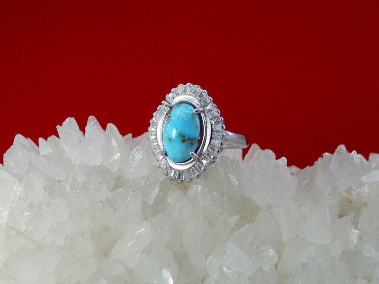 انگشتر جواهری فیروزه نیشابوری اصلی