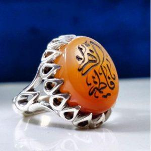 انگشتر عقیق یمن خط زیبا