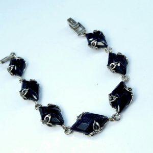 دستبند سنگ اتمی نقره زیبا