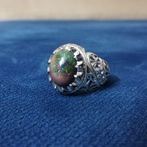 انگشتر اوپال خوش رنگ زیبا اصلی