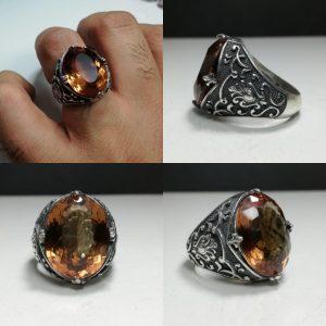 انگشتر الکساندریت 7 رنگ درشت زیبا