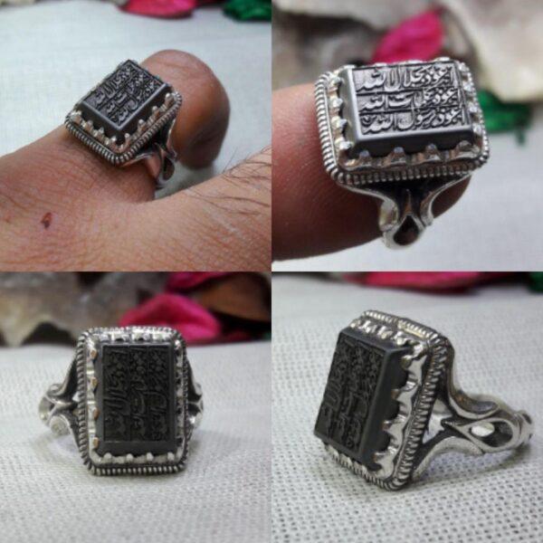 انگشتر حدید ۷ جلاله کامل ظریف زیبا