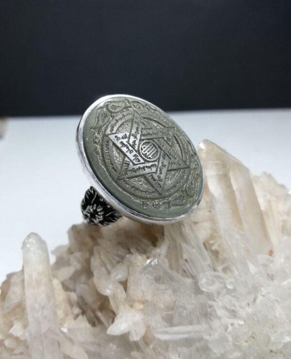 انگشتر یشم صابونی اصلی ستاره حضرت سلیمان