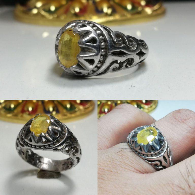 انگشتر یاقوت زرد اصل
