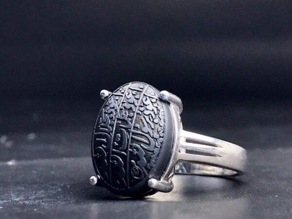انگشتر زنانه حدید 7 جلاله زیبا