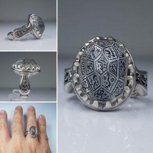 انگشتر در نجف الماس تراش 14 معصوم