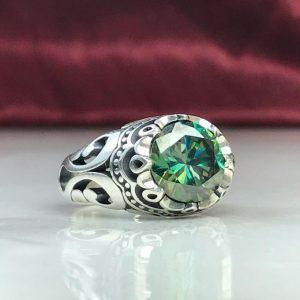 انگشتر موزونایت الماس روسی