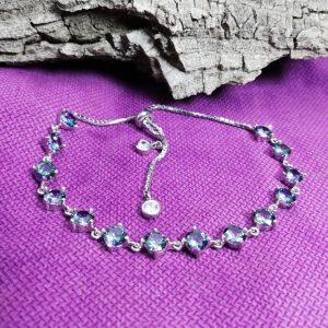 دستبند جواهری توپاز 7 رنگ زیبا