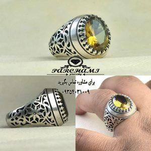انگشتر الکساندریت 7 رنگ زیبا