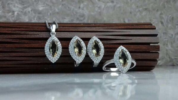 نیم ست جواهری الکساندریت 7 رنگ
