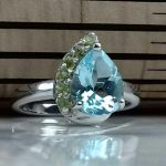 انگشتر جواهری سنگ اصلی توپاز سویسی اصلی و زبرجد اصلی