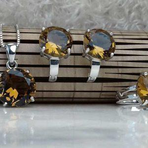 نیم ست جواهری سنگ اصلی الکساندریت