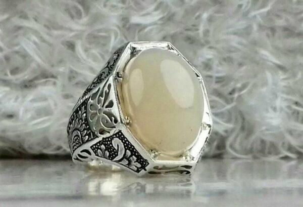 انگشتر اوپال سفید اصلی
