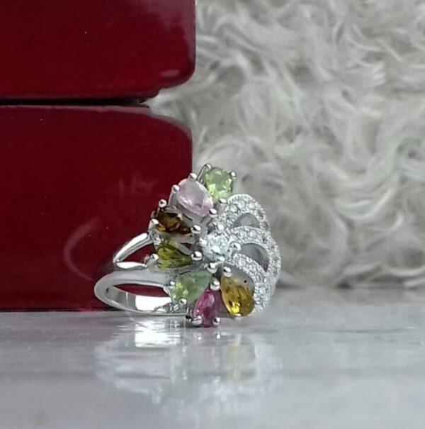 انگشتر جواهری سنگ اصلی