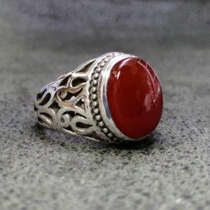 انگشتر عقیق یمن سرخ اصلی