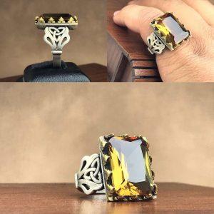 انگشتر الکساندریت 7 رنگ طرح خاص