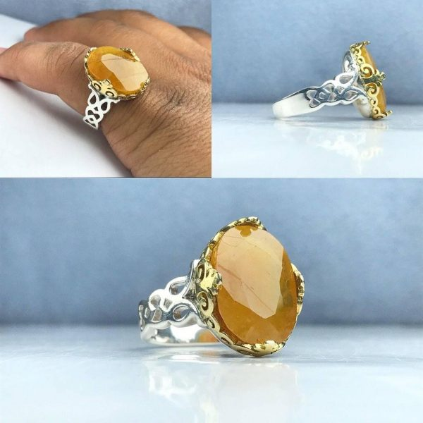 انگشتر یاقوت زرد اصلی