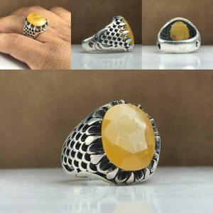 انگشتر یاقوت زرد اصلی آفریقایی