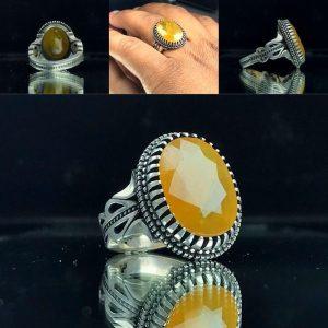 انگشتر یاقوت زرد آفریقایی اصل