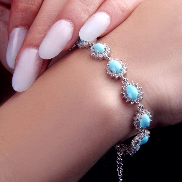 دستبند جواهری فیروزه نیشابوری اصل