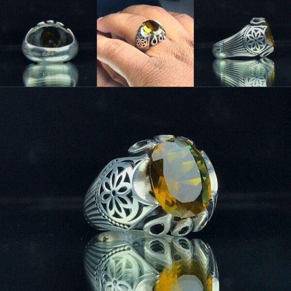 انگشتر الکساندریت 7 رنگ قابلیت تقییر رنگ در هر نوری