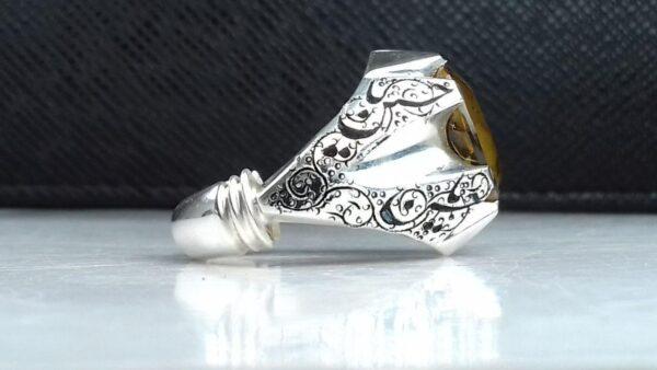 انگشتر الکساندریت 7رنگ قابلیت تقییر رنگ در هر نوری