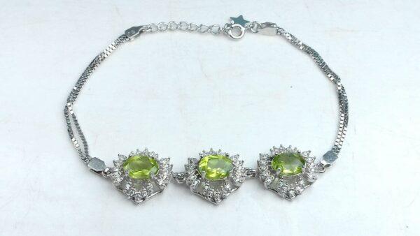 دستبند جواهری زبرجد اصل