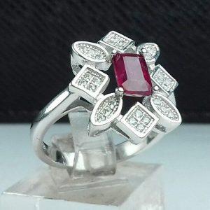 انگشتر جواهری یاقوت قرمز آفریقایی اصل