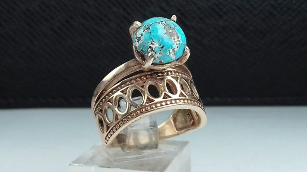 انگشتر جواهری فیروزه نیشابوری