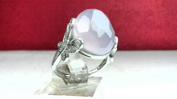 انگشتر عقیق کبود الماس تراش