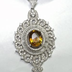 مدال آویز درشت جواهری الکساندریت