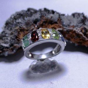 انگشتر نقره حلقه جواهری سنگ اصل