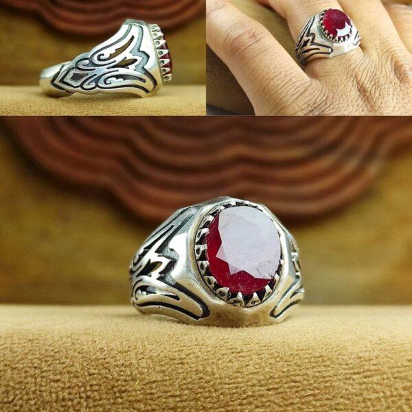 انگشتر یاقوت قرمز اصل