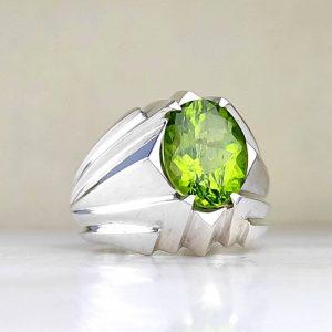 انگشتر زبرجد اصل زیبا